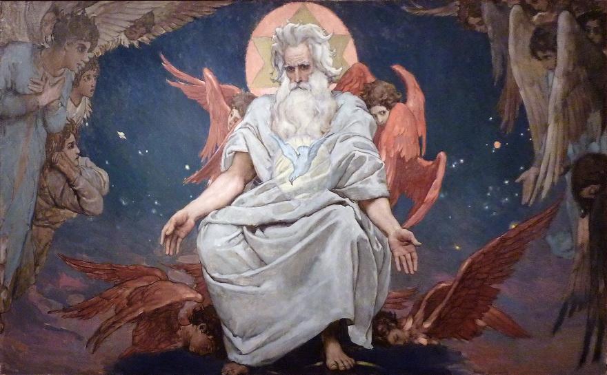 Виктор Михайлович Васнецов. Бог Саваоф. Эскиз росписи Владимирского собора в Киеве