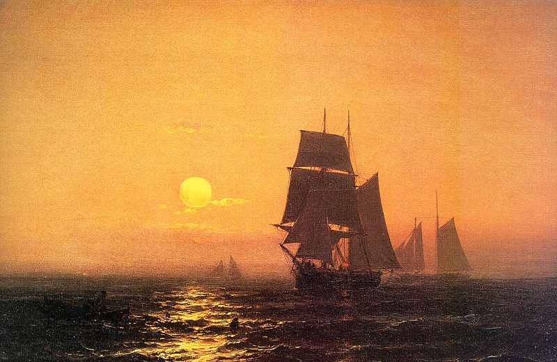 Маупитз Ф. Х. д Хаас. Корабли на закате