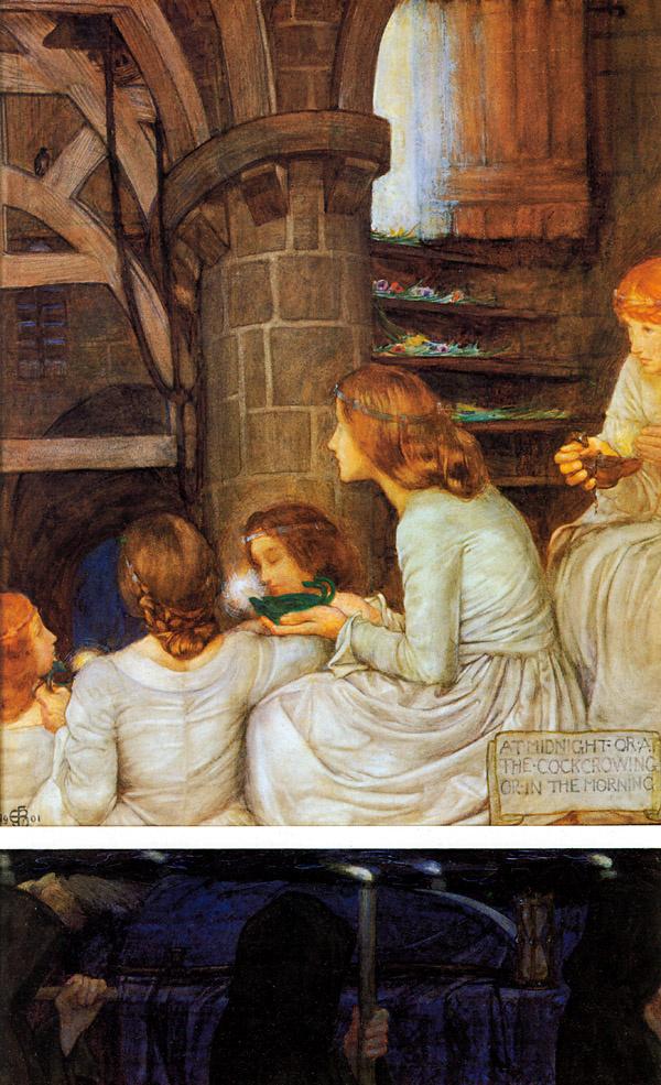 Eleonora Fortesquieu-Brickcadal. The wise virgins