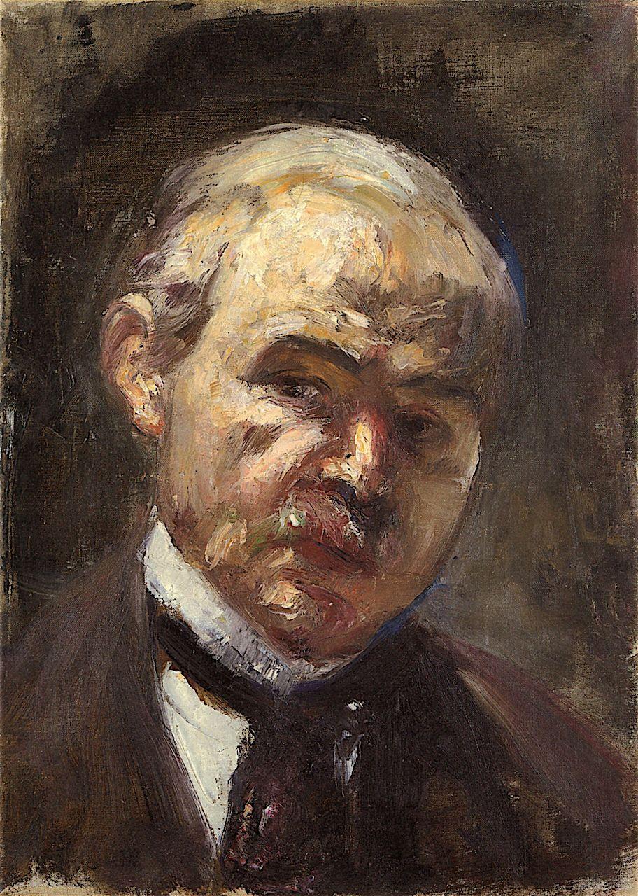 Lesser Ury. Self-portrait