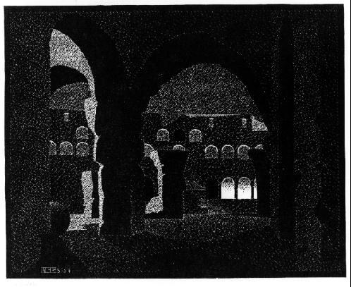 Мауриц Корнелис Эшер. Свет в темноте