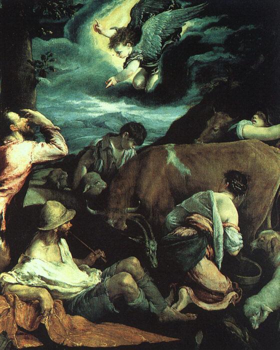 Якопо да Понте Бассано. Благовещение
