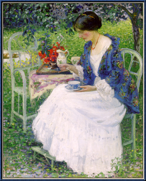 Ричард Эдвард Миллер. Чай в саду