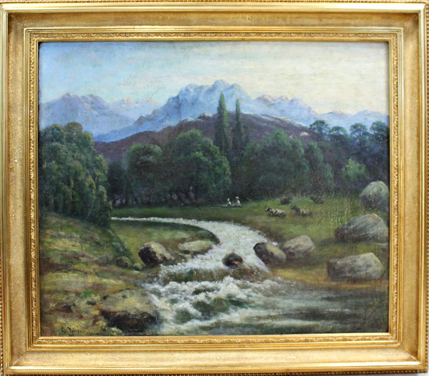 Dmitry Nikolaevich Chudovsky. Mountain landscape