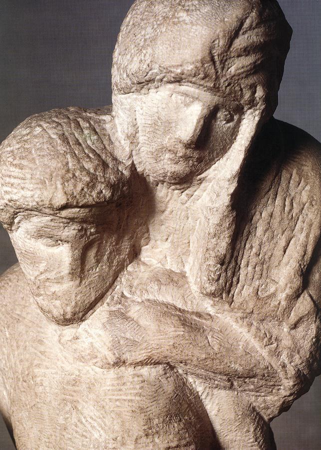 Микеланджело Буонарроти. Пьета Ронданини. Фрагмент