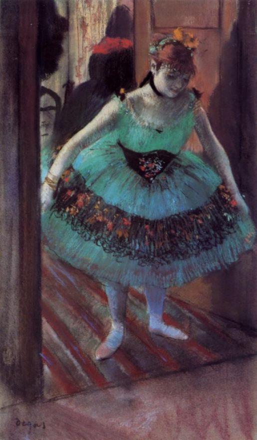 Эдгар Дега. Балерина, уходящая из раздевалки