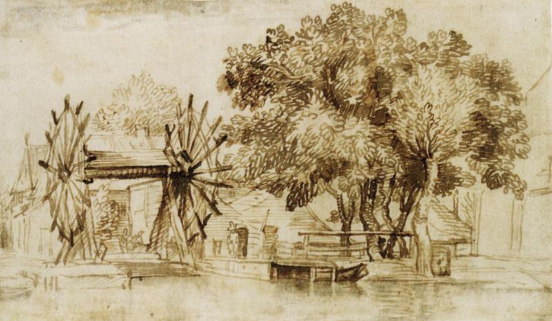 Ян Ливенс. Пейзаж с подъемным мостом в окрестностях Амстердама