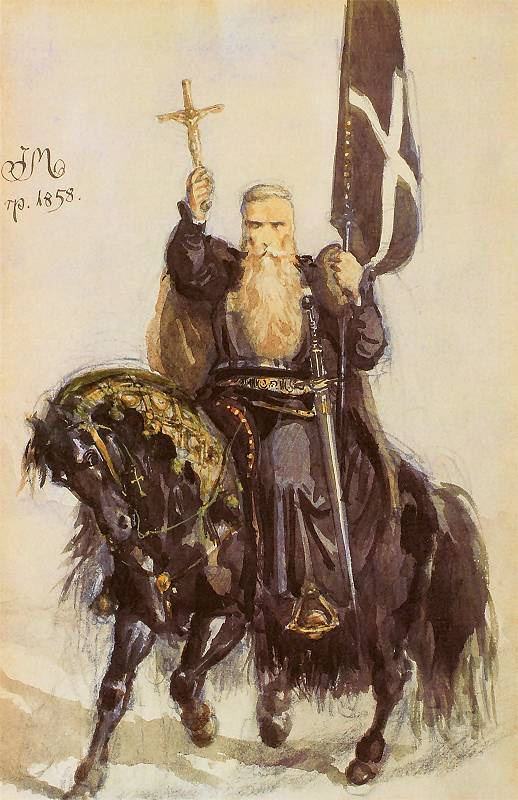 Ян Матейко. Крестоносец. Портрет Петра из Амьена