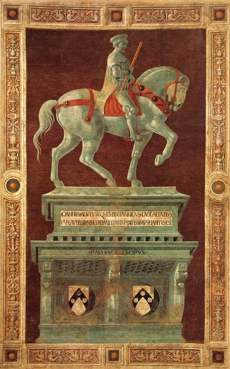 Paolo Uccello. The monument to the condottiere Giovanni Acuto (John Hokudo)