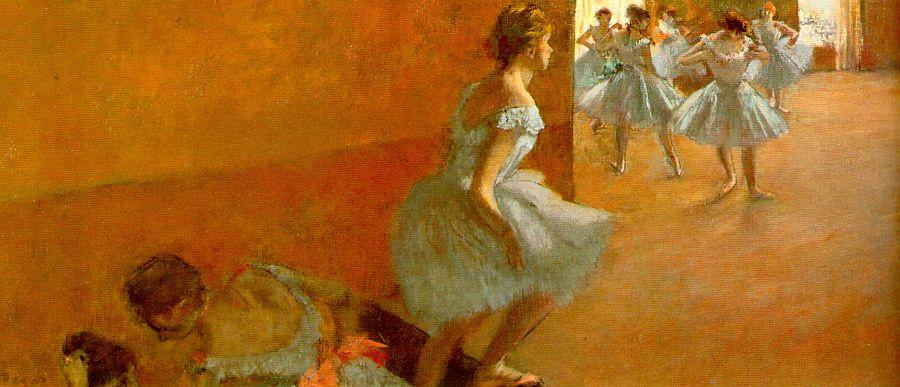 Эдгар Дега. Танцоры поднимаясь по лестнице