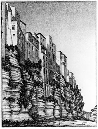 Мауриц Корнелис Эшер. Крепостная стена