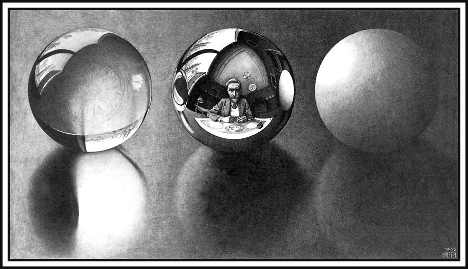 Мауриц Корнелис Эшер. Три сферы 2