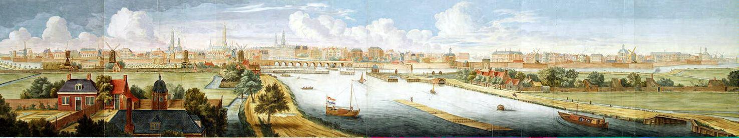Ян Кессель. Панорама Амстердама