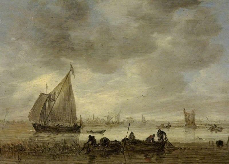 Jan van Goyen. Fishermen near Dordrecht