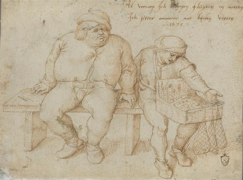 Peter Brueghel the Younger. The farmer and the merchant on the bench