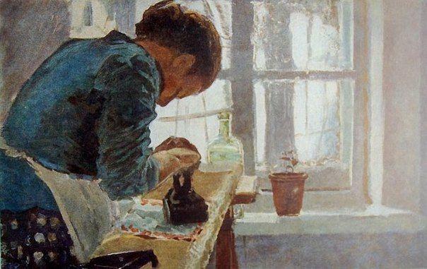 Елена Дмитриевна Поленова. Гладильщица