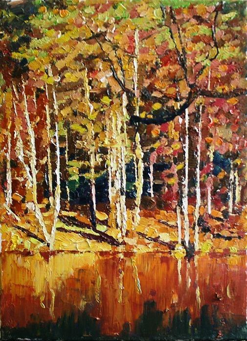 Mikhail Rudnik. Autumn lake