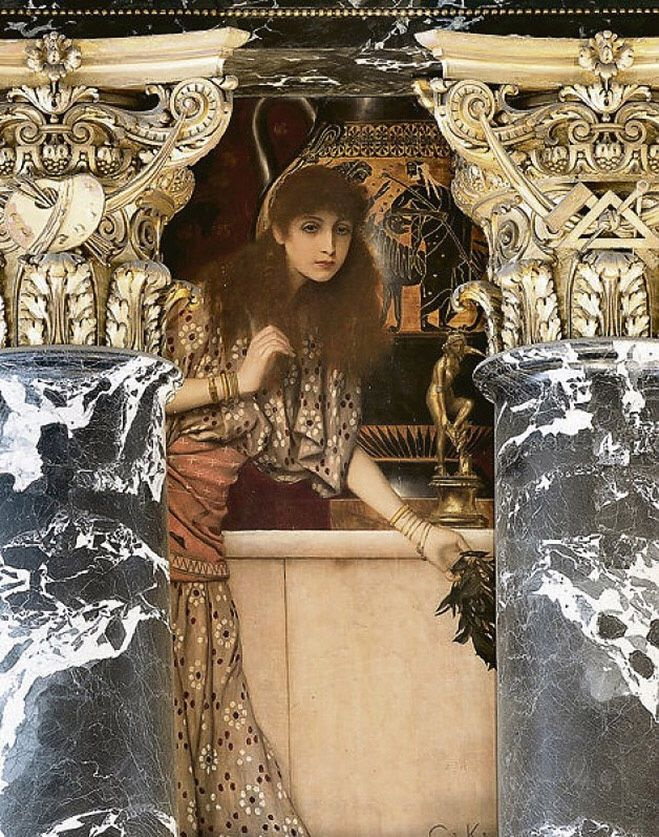 Gustav Klimt. Ancient Greece. The girl from Tanagra (Painting for the Museum of art history, Vienna)