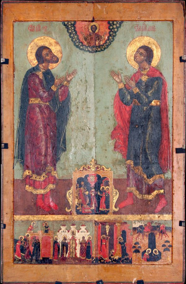 """Unknown artist. Icon """"Florus and Laurus with life"""""""