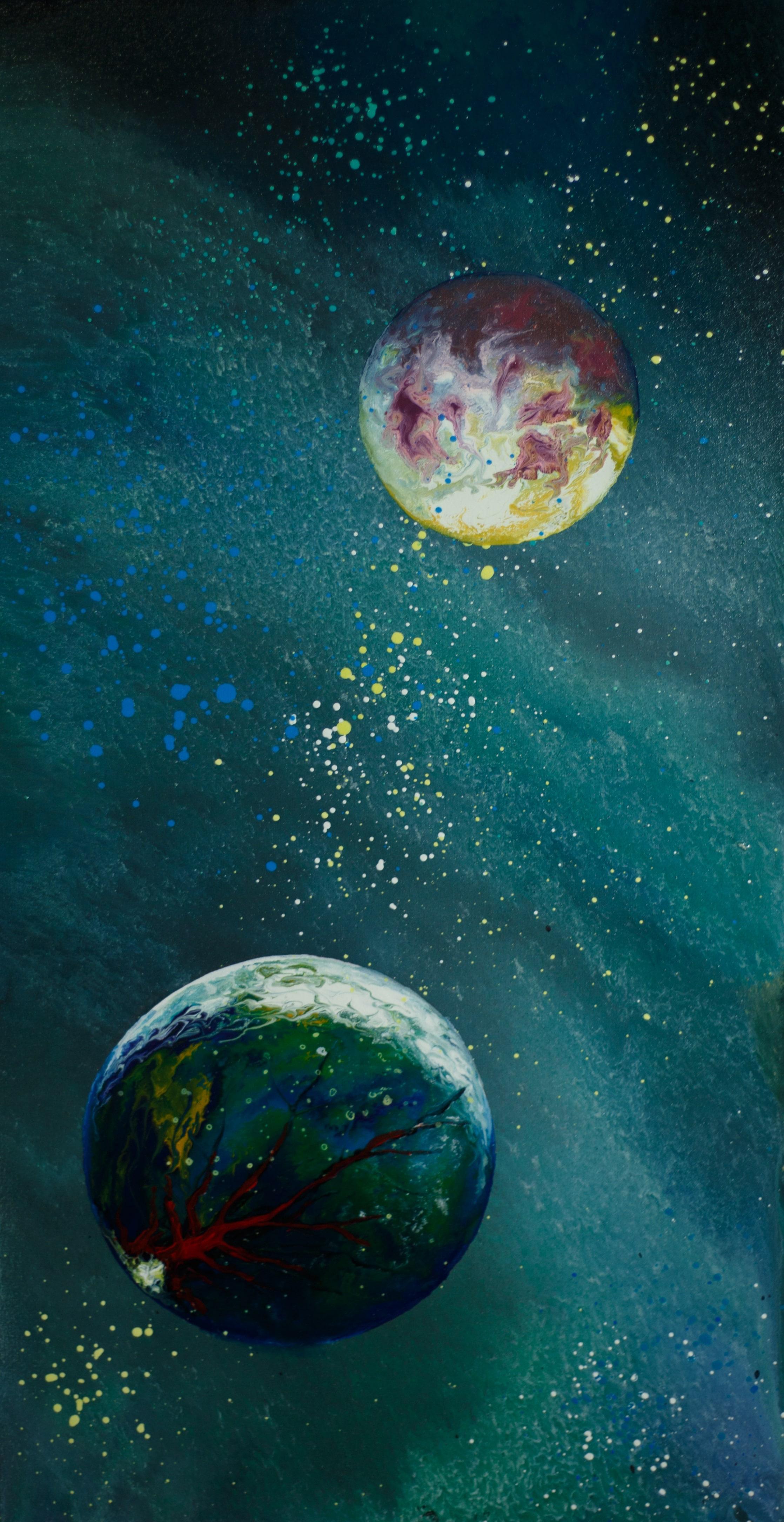 "Alla Struchayeva. The painting ""Cosmic obsession"""