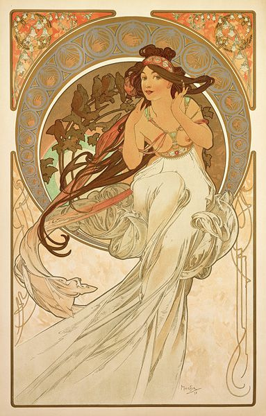 "Alfons Mucha. Music. From the series ""Art"""