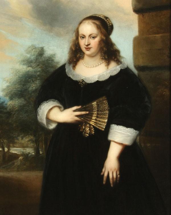 Jan Lievens. Portrait of a woman with fan