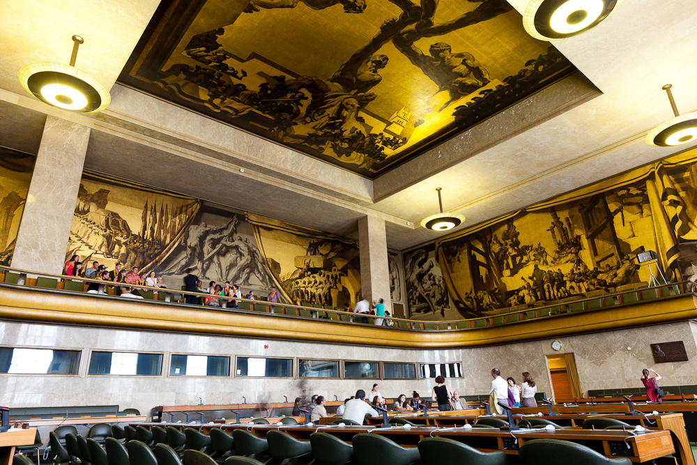 Хосе Мария Серт. Фрески Дворца Лиги наций