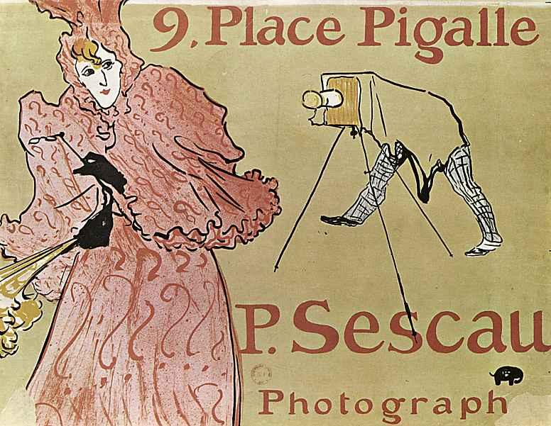 """Анри де Тулуз-Лотрек. Плакат """"Пляс Пигаль, 9. Фотограф П.Сеско"""""""