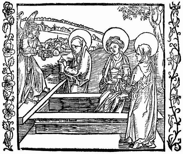 Альбрехт Дюрер. Три жены у гроба