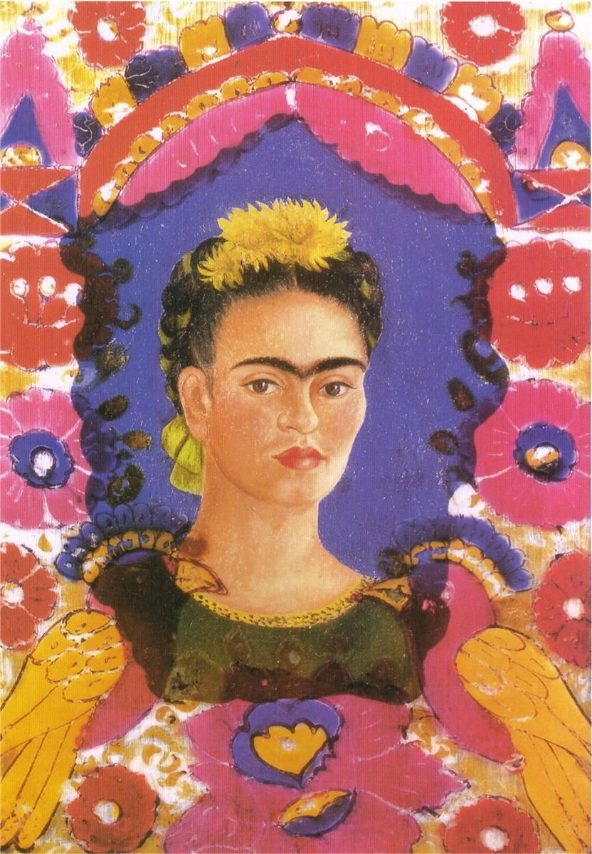 Frida Kahlo. Self Portrait - The Frame