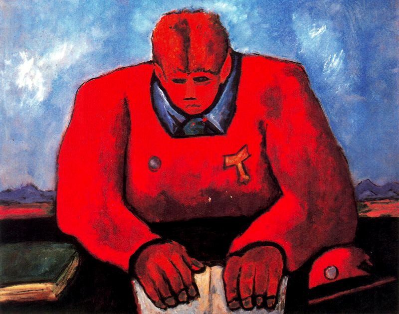 Marsden Hartley. The man in red