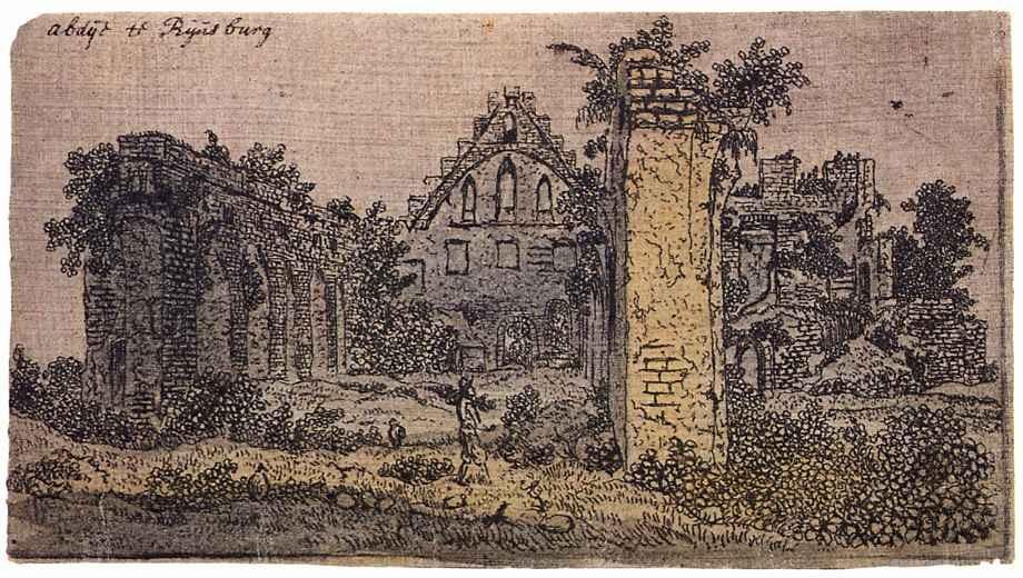 Херкюлес Питерс Сегерс. Руины монастыря Рейнсбург