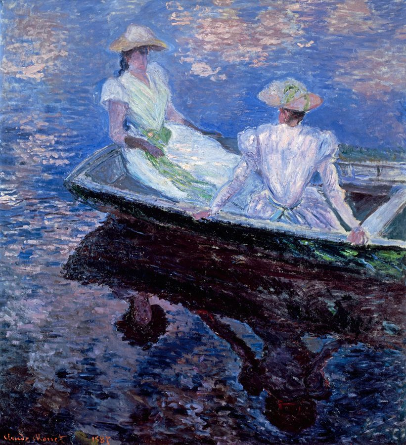 Claude Monet. Girls in a boat