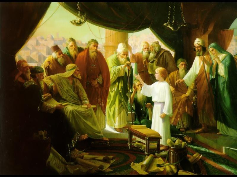 Чарльз Голди. Младенец Христос в храме