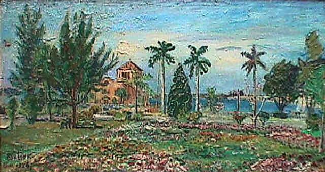 Давид Давидович Бурлюк. Зеленый пейзаж