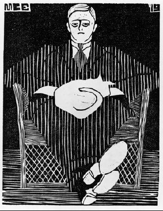 Мауриц Корнелис Эшер. Портрет мужчины со шляпой