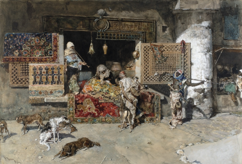 Mariano Fortuny y Marsal. The rug seller