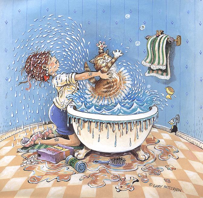 Дню победы, открытка мыться в ванной