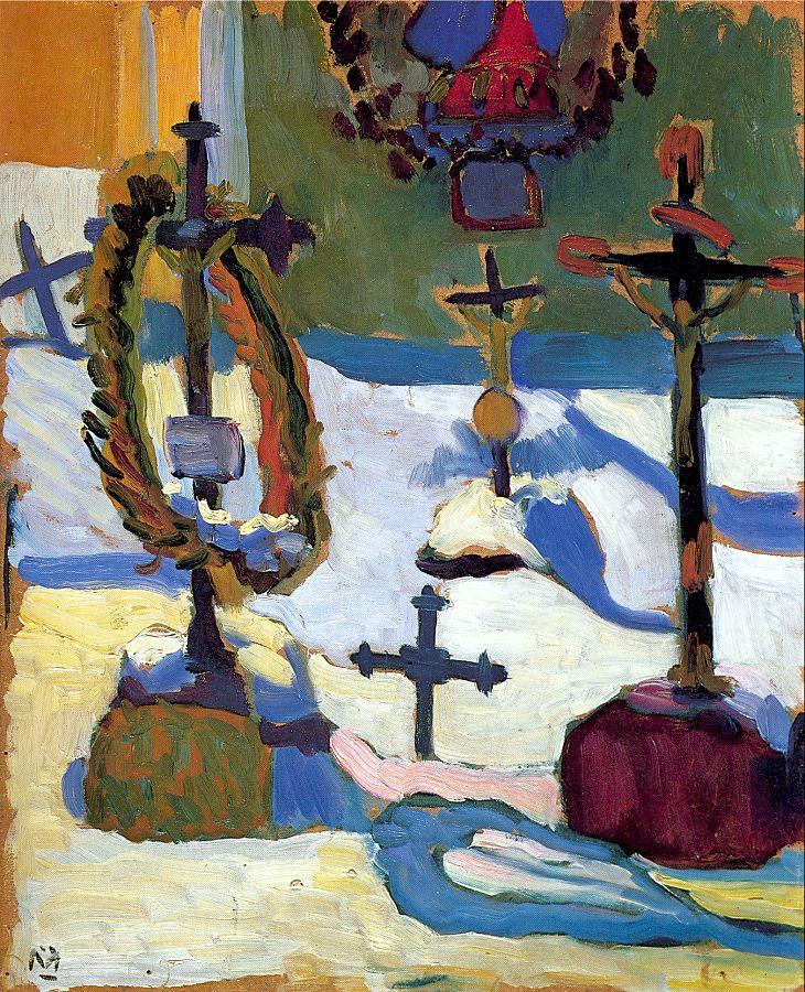 Gabriele Münter. Crosses in the cemetery