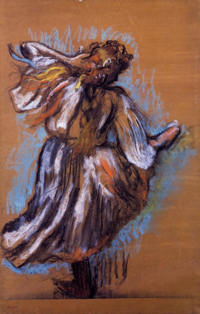 Edgar Degas. Russian dancer