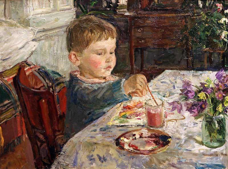 Arkady Alexandrovich Plastov. Grandson draws