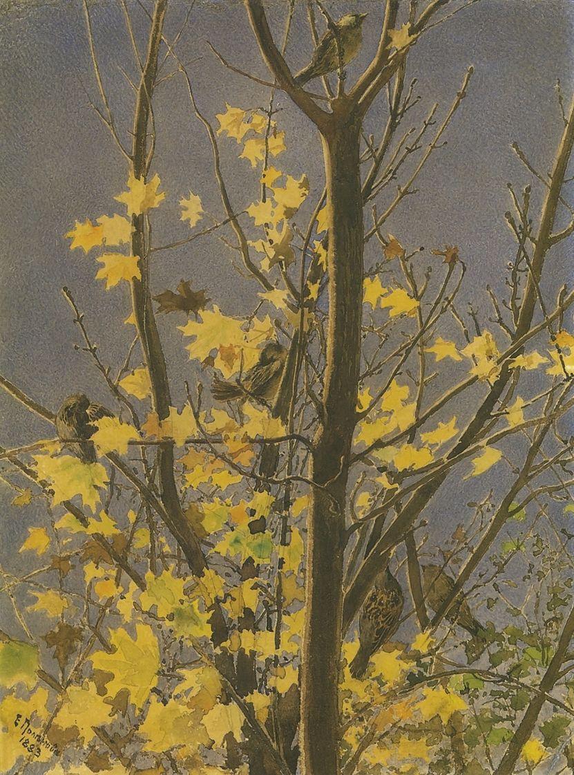 Elena Dmitrievna Polenova. Autumn motive
