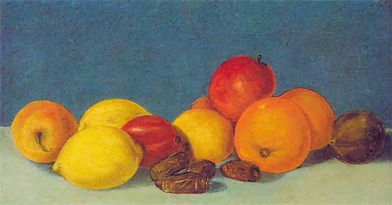 Ян Матейко. Натюрморт с овощами и фруктами