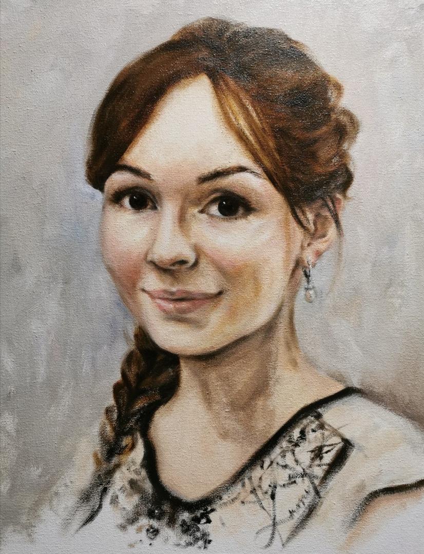 Katerina Nikolaevna Sorokina. Portrait of Sveta