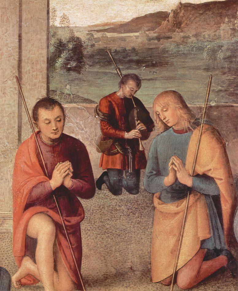 Пьетро Перуджино. Поклонение пастухов, деталь