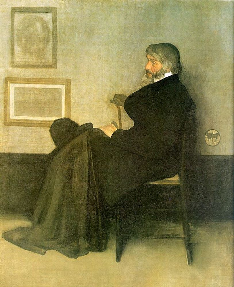Arrangement in gray and black No. 2. Portrait Of Thomas Carlyle