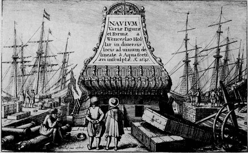 Венцель Холлар. В гавани