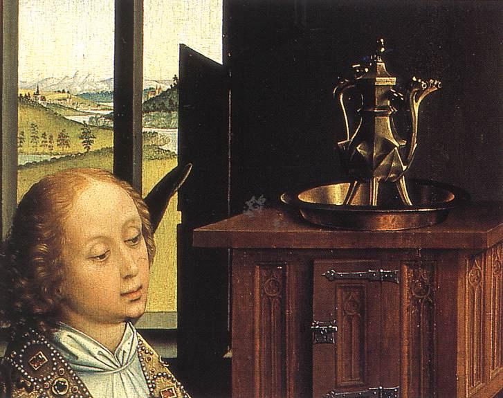 Рогир ван дер Вейден. Триптих Благовещение. Фрагмент