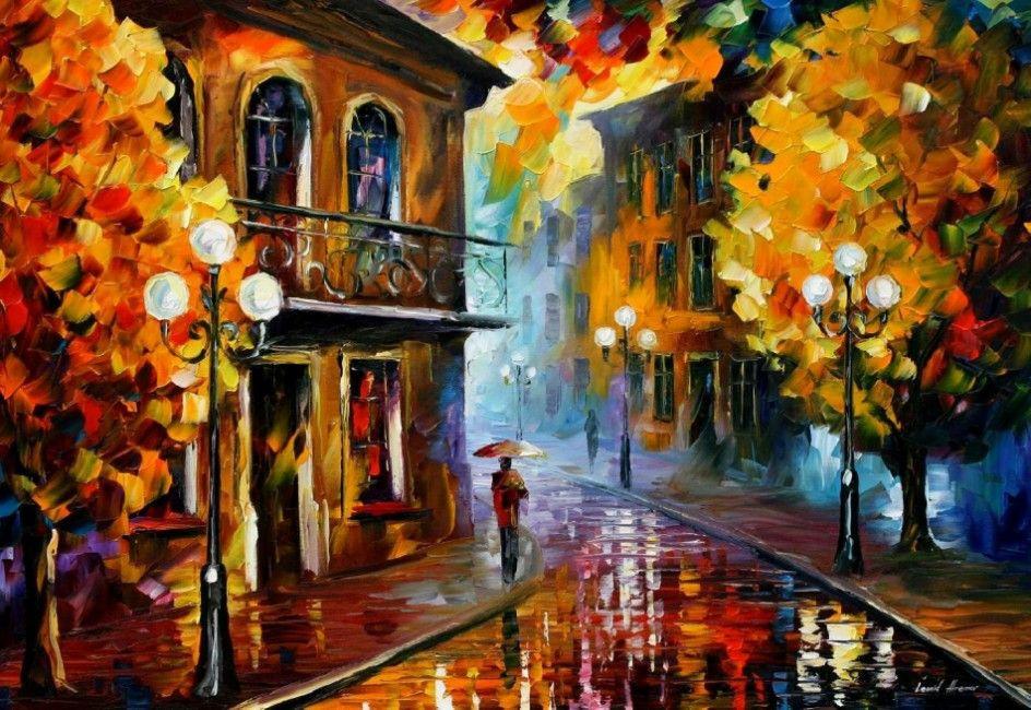 Leonid Afremov. Autumn rain