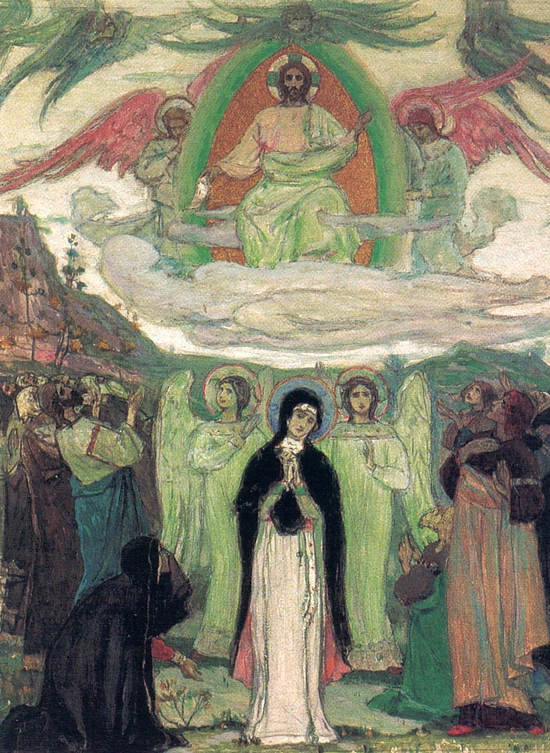 Mikhail Vasilyevich Nesterov. The Ascension Of The Lord. Sketch
